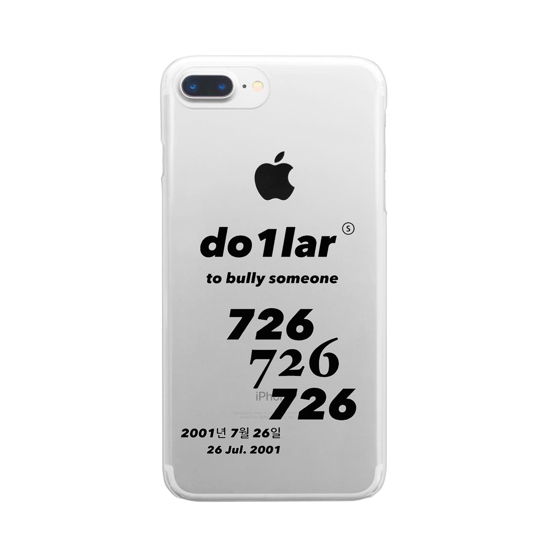 do1lar.officialshopの726 Clear smartphone cases