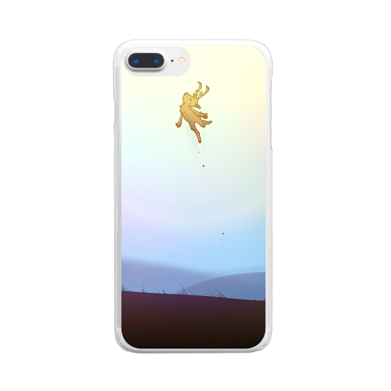 WaxTerKの商品棚の跳ぶシカ Clear smartphone cases