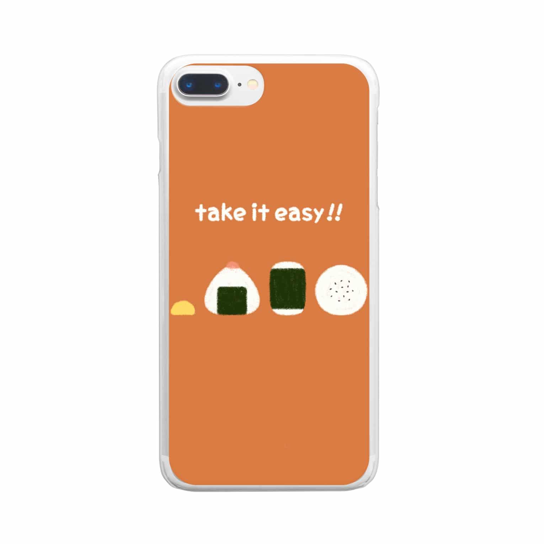 FUJIMAのおにぎりファミリー Clear smartphone cases