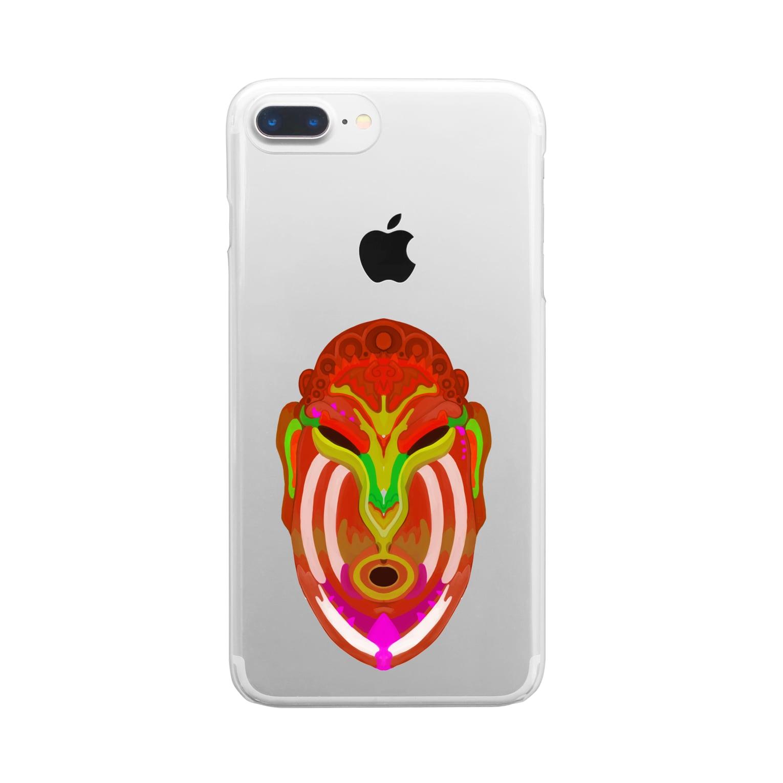 かめれおん芸術工房*渡邉帆南美のカレヤマカラ Clear smartphone cases