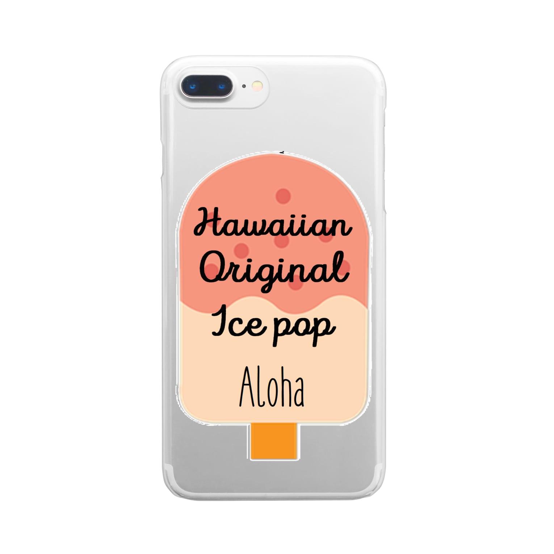 mahaloa968のアイスバー(アロハ) Clear smartphone cases