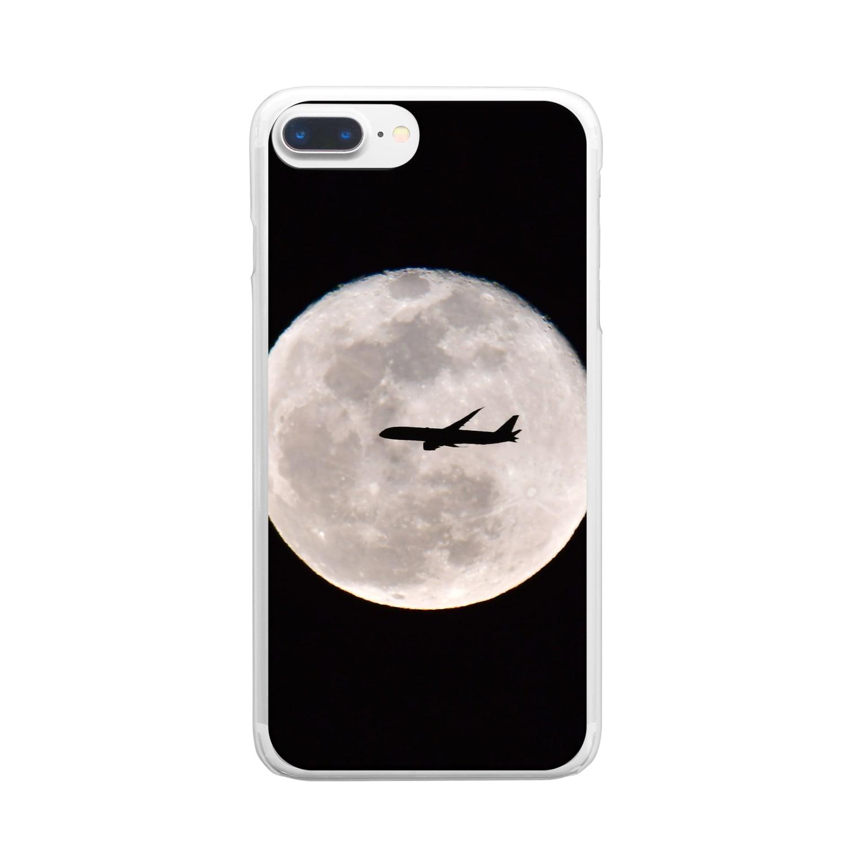 satoの月光 Clear smartphone cases