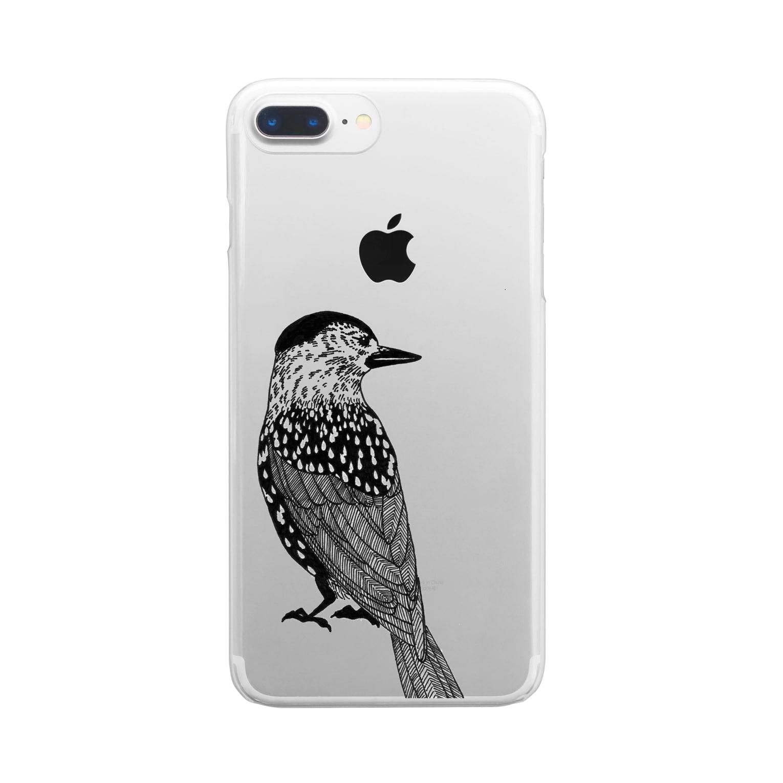 まつのき商店のホシガラス Clear smartphone cases