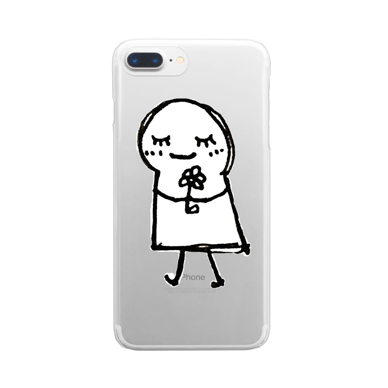 古春一生(Koharu Issey)のあなたが えがおに なれますように。(♡なし) Clear smartphone cases