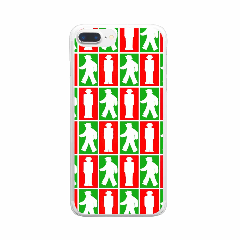★がらがら別館★の★歩行者信号機★四角★ Clear smartphone cases