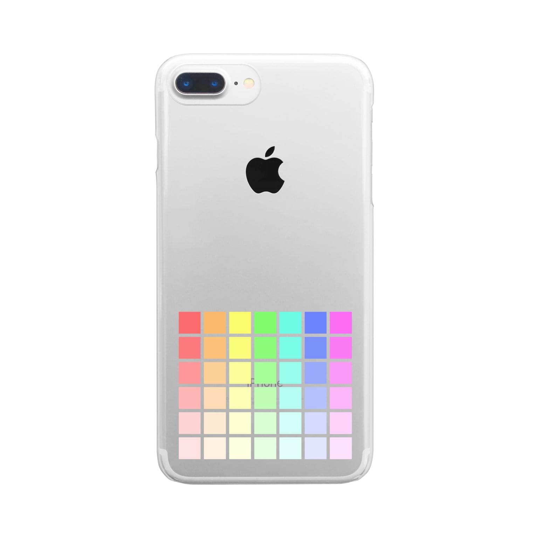 zukkyzukkyの虹 Clear smartphone cases