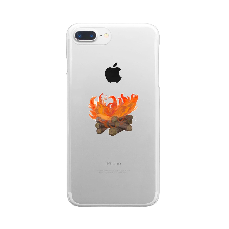 Kukulkanの炎 Clear smartphone cases