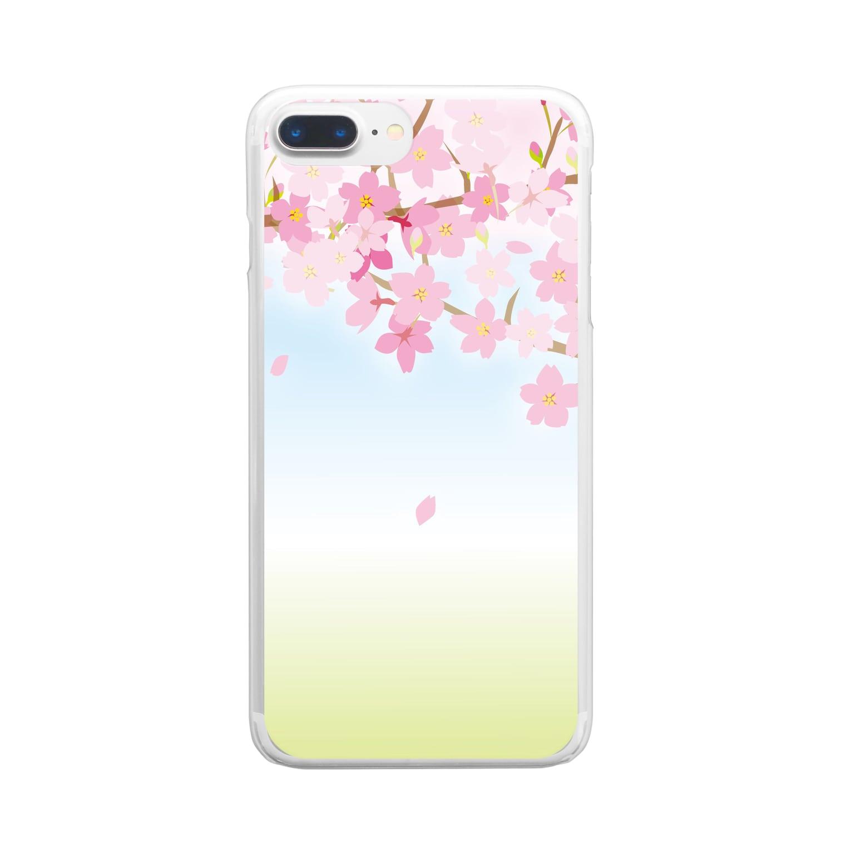 orange_honeyの桜45 Clear smartphone cases