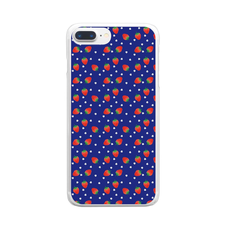 ynkseのいっぱいいちご Clear smartphone cases
