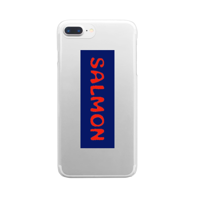 G-HERRING(鰊;鮭;公魚;Tenkara;SALMON)のSALMON Clear smartphone cases