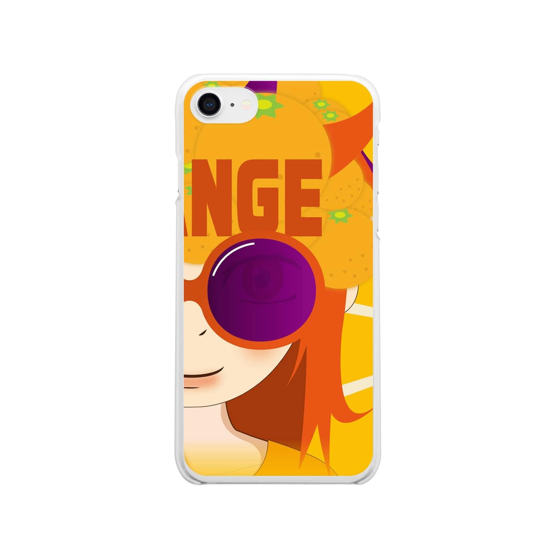バンブータケのORANGEオレンジ クリアスマートフォンケース