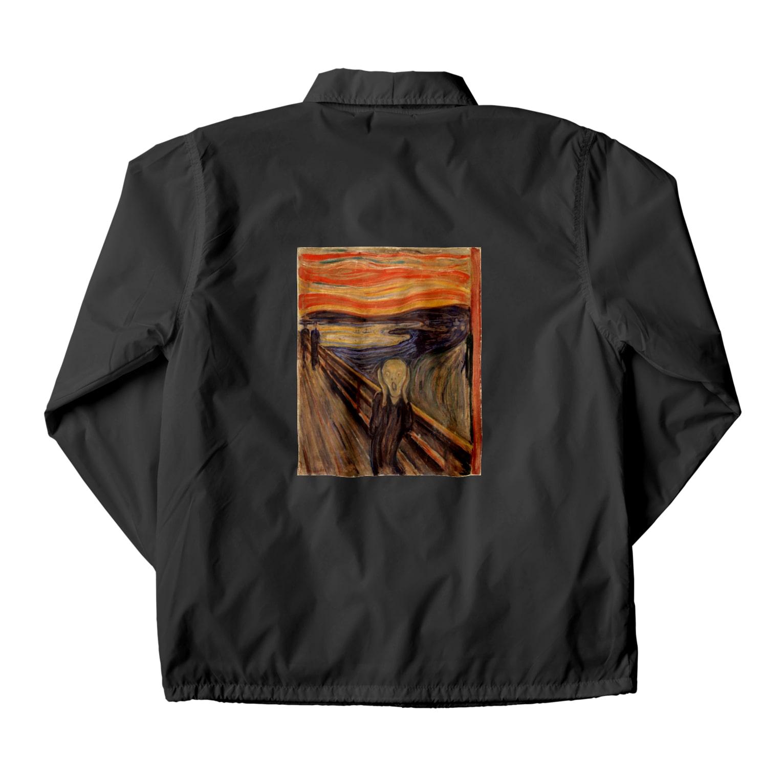 Art Baseのムンク / 叫び / The Scream / Edvard Munch /1893 Coach Jacket