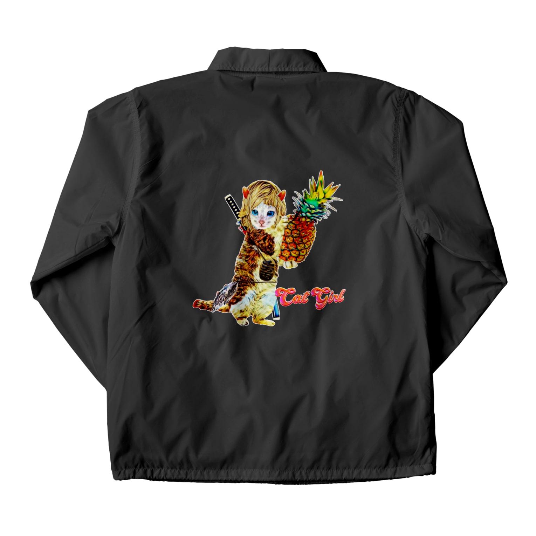 Rock catのCAT GIRL パイナップル Coach Jacket