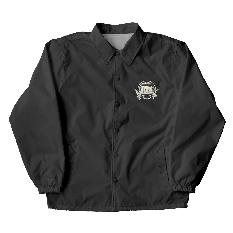Japanarration_ジャパナレーションの鳥羽の朝市_今浦_白スタンプ Coach Jacket
