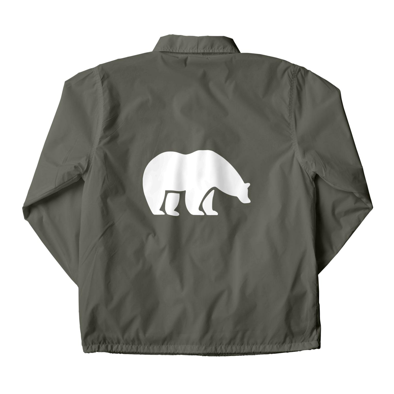 BASE-CAMPのBASE BEAR 01 WHITE Coach Jacket