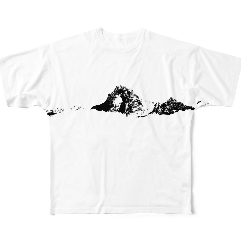 radioの山のイタダキ Full graphic T-shirts