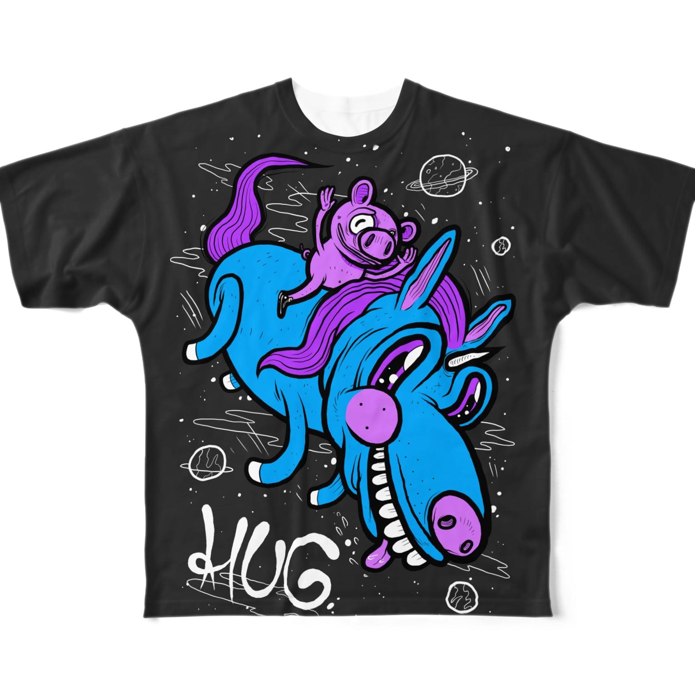 HUGオフォシャルショップのUniverse Is AWESOME Full graphic T-shirts