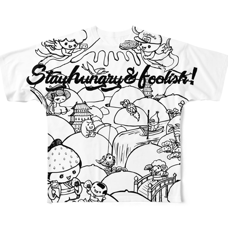LILY STUDIOのみるく滝桃源郷2 Full graphic T-shirts