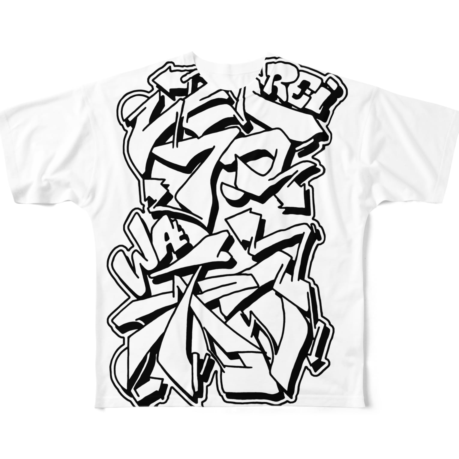 PB.DesignsのREIWA-graffiti Full graphic T-shirts