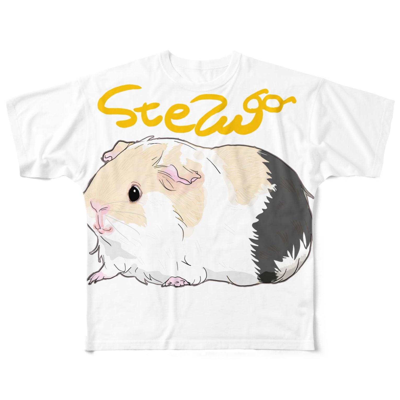 nins・にんずのstewちゃん Full graphic T-shirts