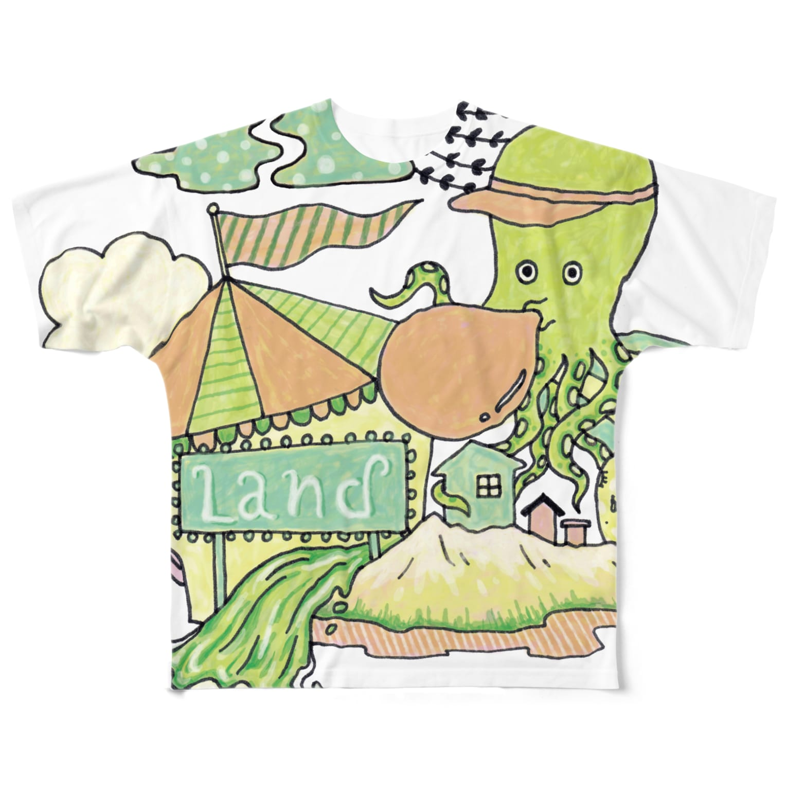 Ran KobayashiのTACOLAND Full graphic T-shirts