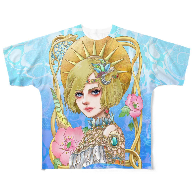 白ふくろう舎のゴージャスフルグラT Full graphic T-shirts