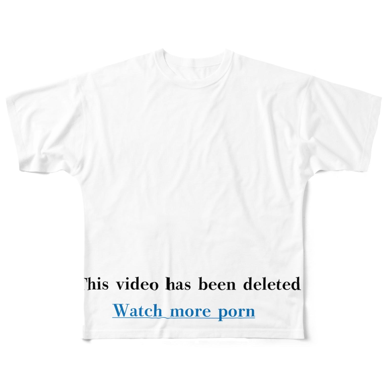 Matsuyaの警告シリーズ3 Full graphic T-shirts