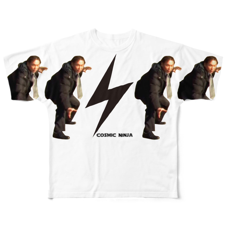Cosmic Ninja -YAMIICHI-のSHO-Zチェキシリーズ フルグラフィックTシャツ