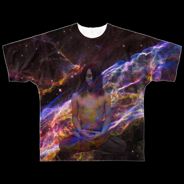 xsotaショップのspace yogaフルグラフィックTシャツ
