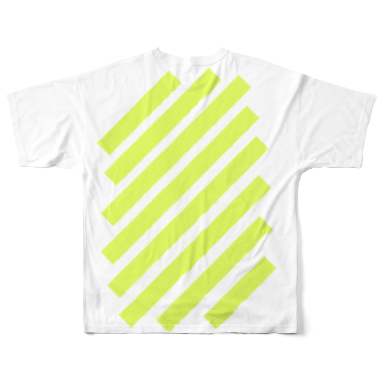 whaisonのsuzuri_fullgraphicT-template-XL_slash_lime_yellow_ Full graphic T-shirts