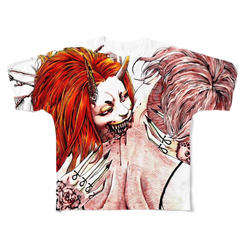 Studio MOONの吸血 Full graphic T-shirts