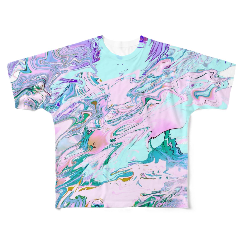 相磯桃花の^^(^.^) Full graphic T-shirts
