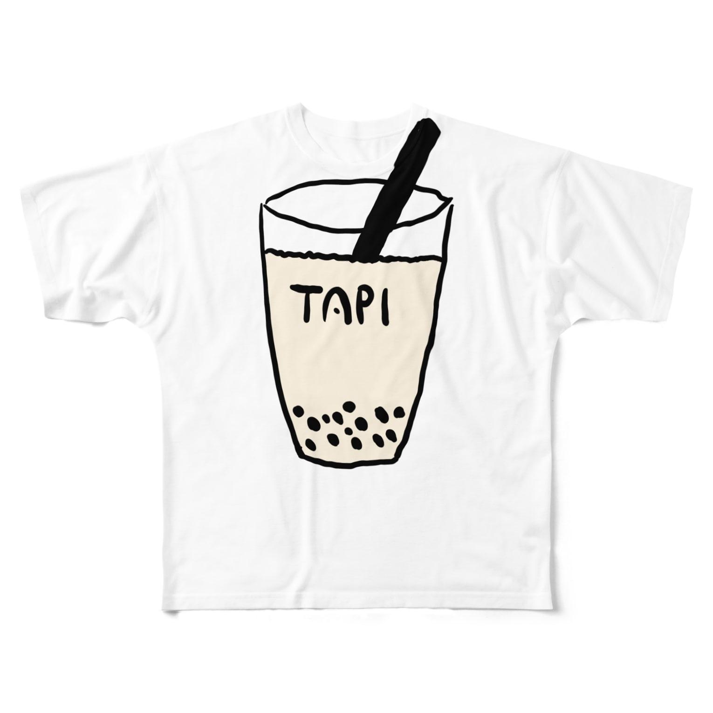 Eatn-kkのタピオカ Full graphic T-shirts