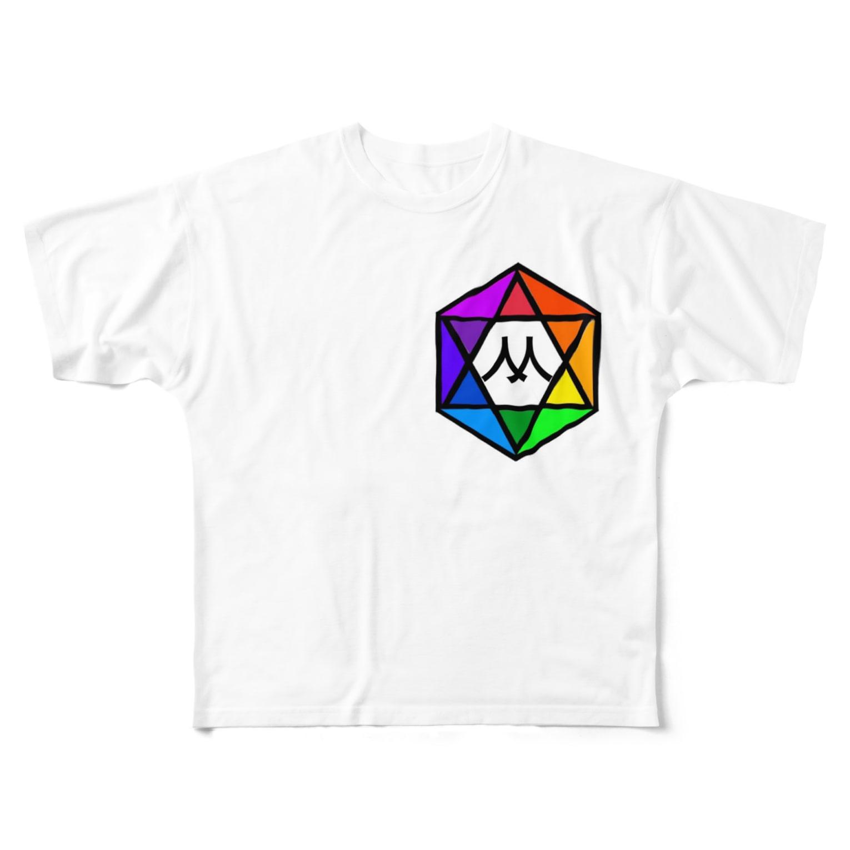 MedelBox™️ by MEDELの相対十二色相環 (Mマーク) Full graphic T-shirts