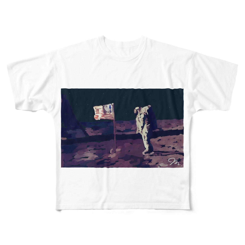 Boston ShopのApollo50thMoonLanding Full graphic T-shirts