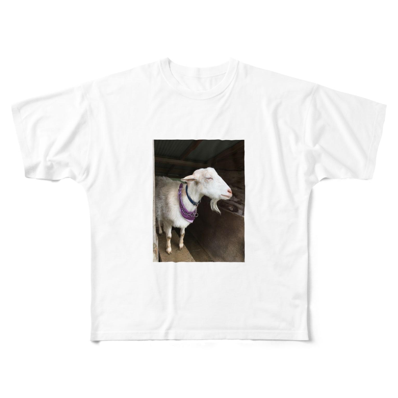 hari1111のおしゃれヤギさん Full graphic T-shirts