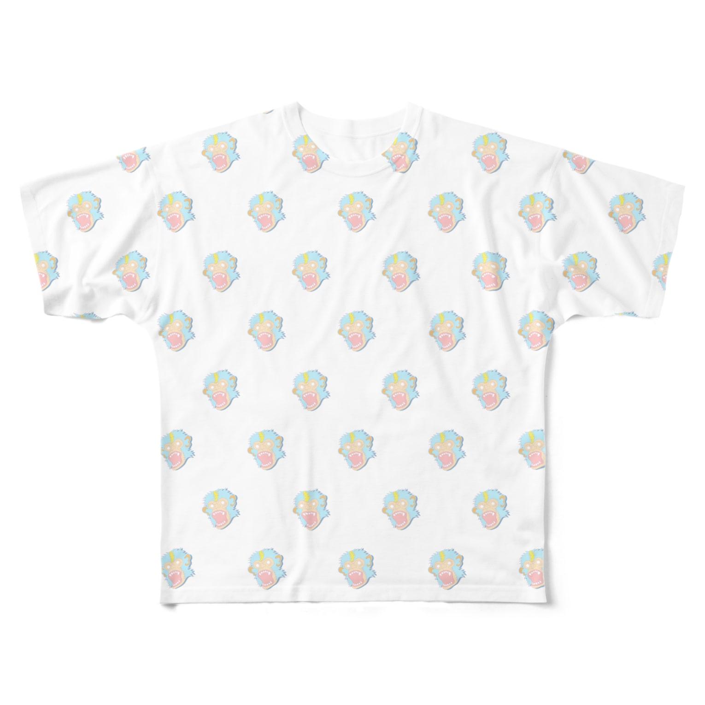 ET・MONKEY🐵のフルグラフィック パステルモンキー Full graphic T-shirts