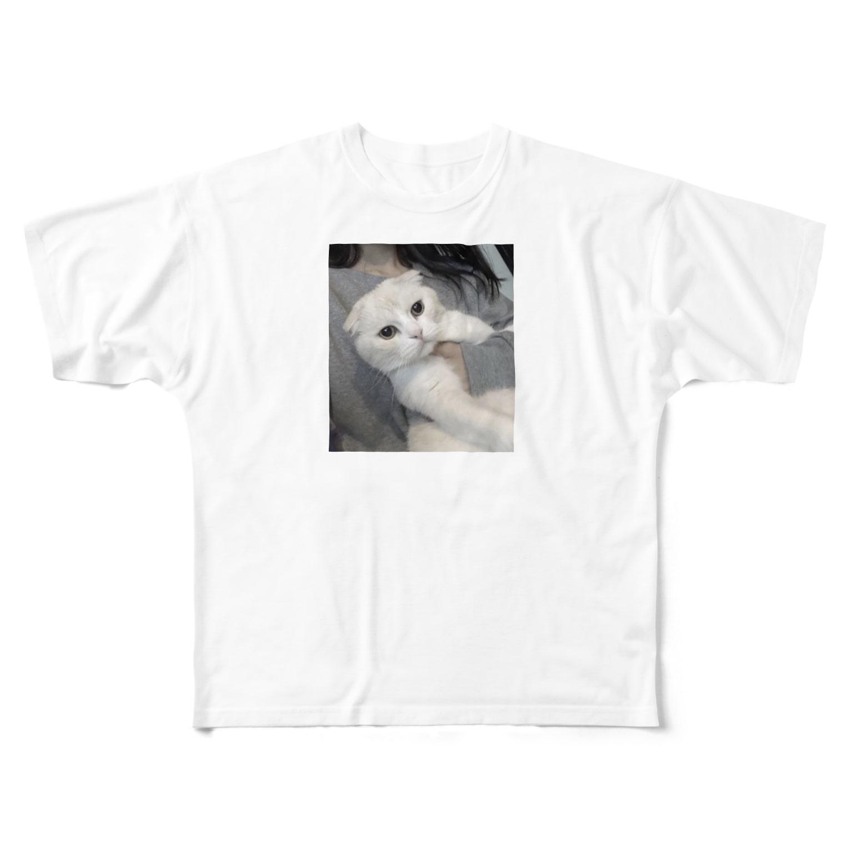 hha__m72の猫T Full graphic T-shirts