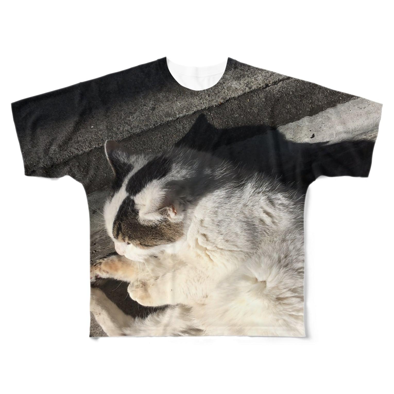 kyouaku_drmのねこになった Full graphic T-shirts
