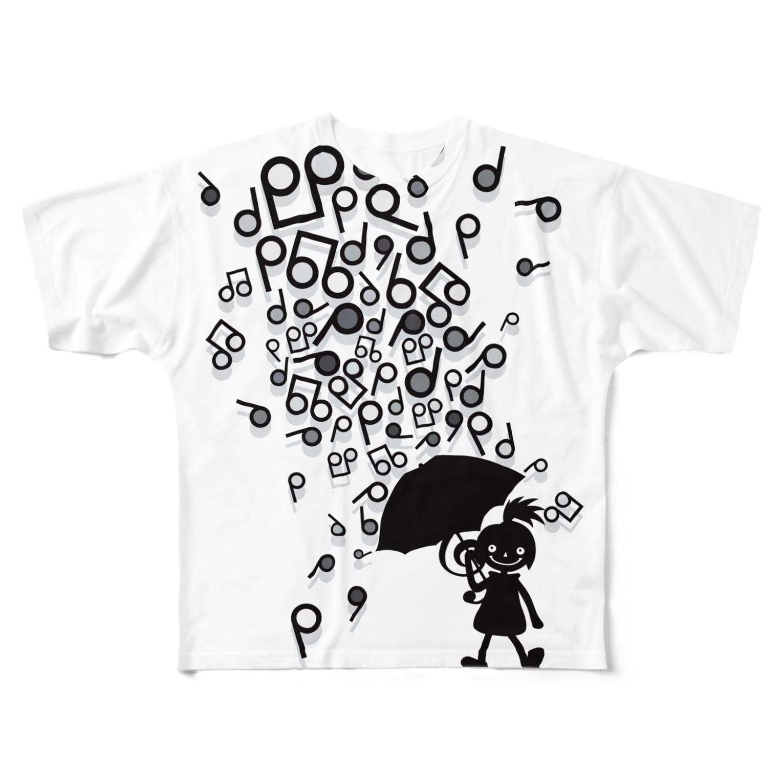 AURA_HYSTERICAのSingin' in the Rain Full graphic T-shirts