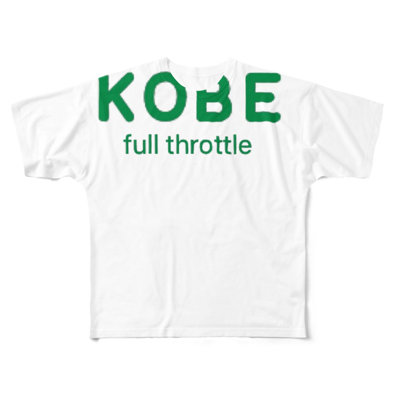 happymoonkobeのKOBE フルスロットル Full graphic T-shirts