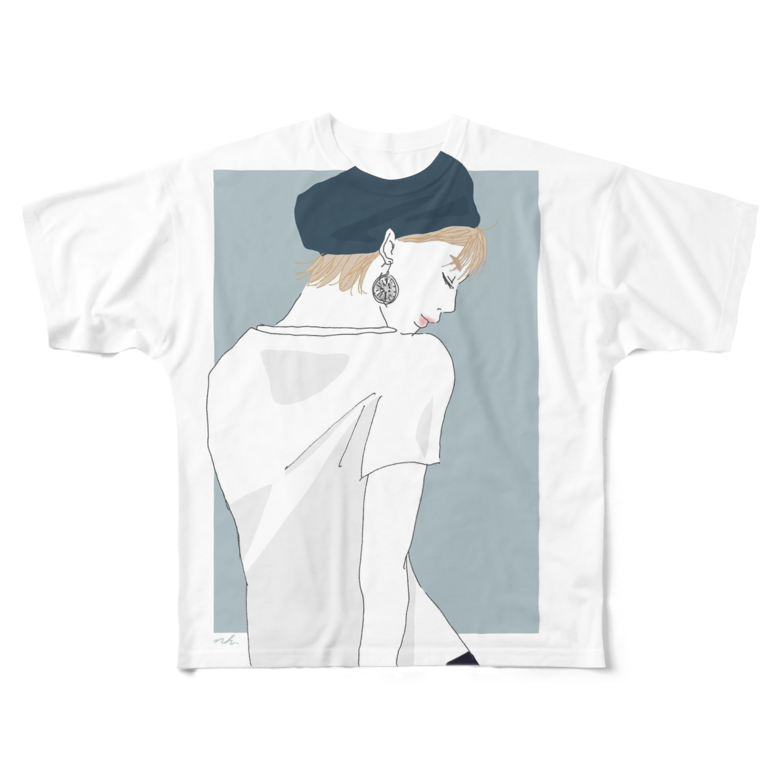 6696illustrationのMee Full graphic T-shirts