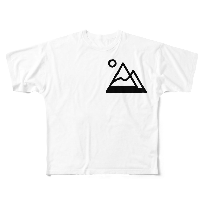 tk64358の山simple Full graphic T-shirts