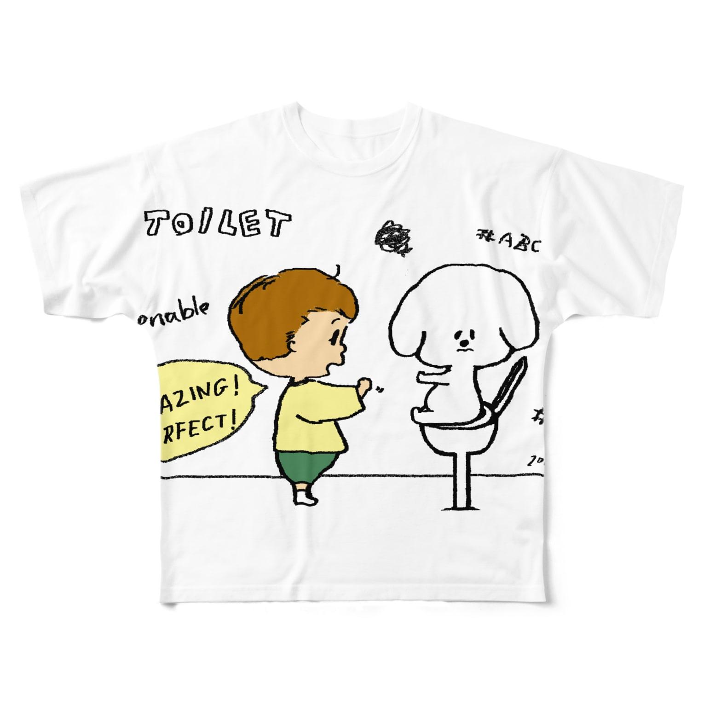 egu shopのeducate Full graphic T-shirts