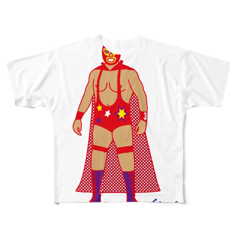 3pondSのRed Rucha Full graphic T-shirts