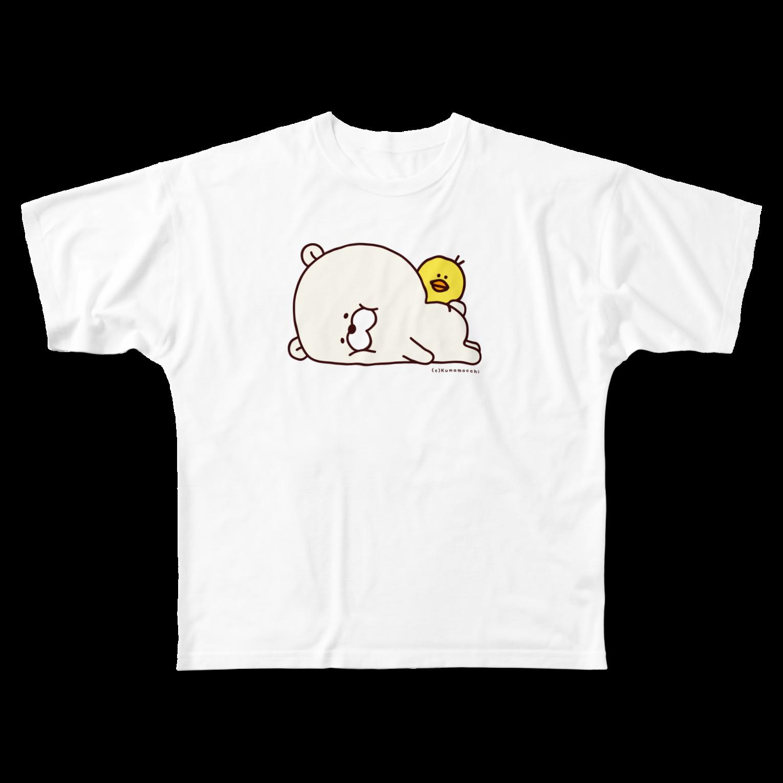 たかせ ゆづきのクマもっち。 フルグラフィックTシャツ