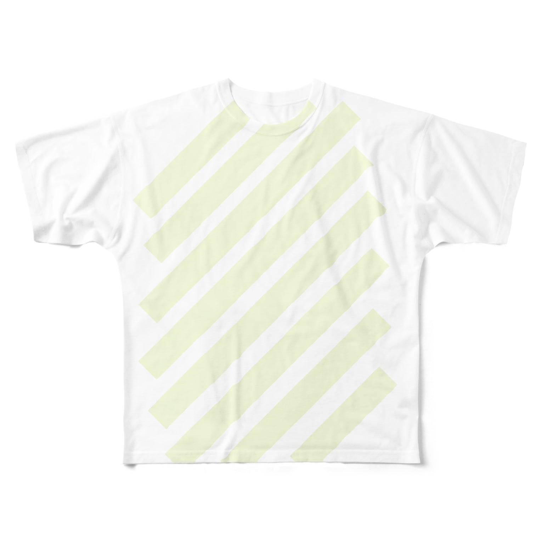 whaisonのsuzuri_fullgraphicT-template-XL_slash_lime_yellow_pale_f7fddc フルグラフィックTシャツ