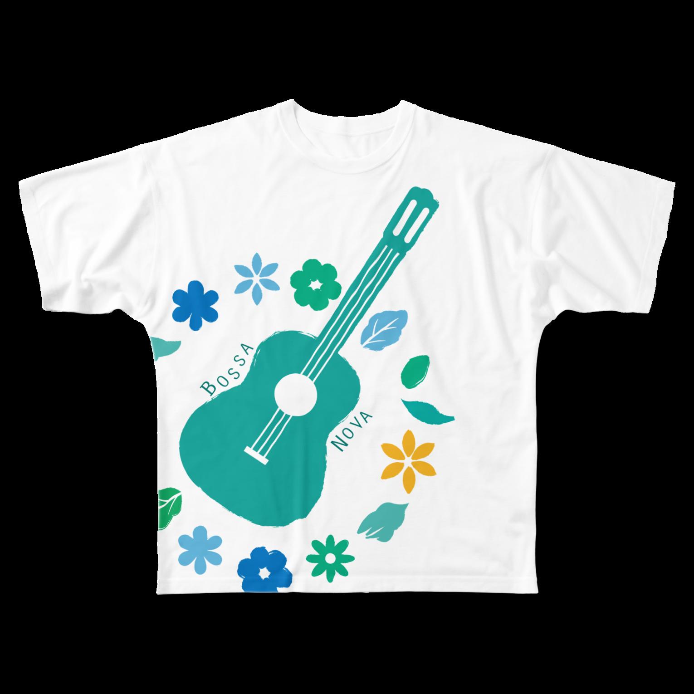 Karen's webshopの夏ぼさフルグラフィックTシャツ