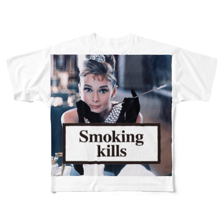 U moreのSmoking Kills Full graphic T-shirts