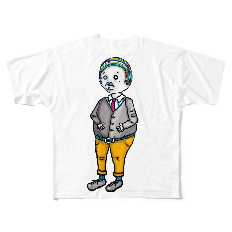 owlbeak5678のカラフルダディ Full graphic T-shirts